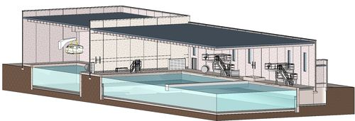 CUT AWAY RESCUE SWIMMER POOL